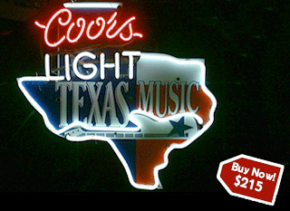 For Sale: Coors Light Texas Music Sign in Neon | Hayward Neon